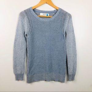 Sparrow Boyfriend Knit Sweater Light Blue S